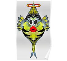 Angelfish Cartoon Poster