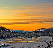 Winter Sunrise on Takhinni River by Yukondick