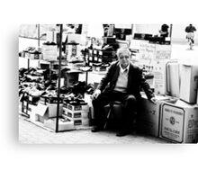 The Shoes Salesman Canvas Print