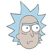 Rick and Morty-- Rick Face Photographic Print