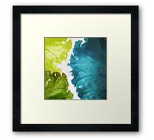 Green waves Framed Print