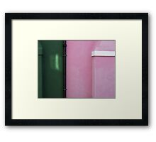 A SLITHER OF LIGHT Framed Print
