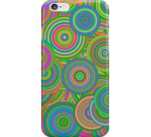 Vintage Retro Circles Abstract iPhone Case/Skin