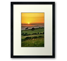 Cleeve Common Sunset, The Cotswolds, England Framed Print