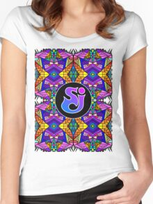 String Cheese Incident - Trippy Pattern 4 Women's Fitted Scoop T-Shirt