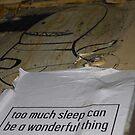 To Much Sleep? by LJ_©BlaKbird Photography