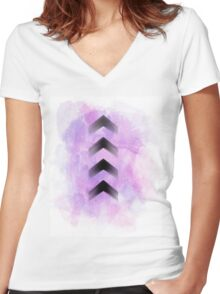 Purple Arrows Women's Fitted V-Neck T-Shirt