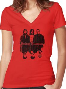 A Vampire, a Ghost and a Werewolf. 1st Generation Women's Fitted V-Neck T-Shirt