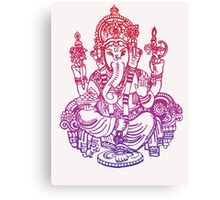 Ombre Indian Ganesh Elephant T-shirt Canvas Print