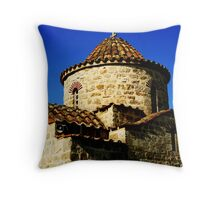 Saint George Makris church Throw Pillow