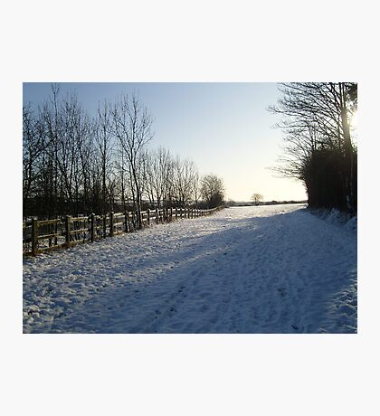Hertfordshire Snow scene Photographic Print