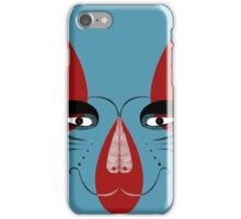 Coyote the Trickster in red, black and white iPhone Case/Skin