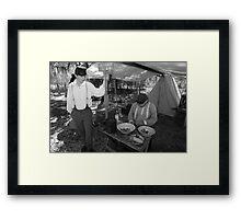 Quartermaster BW Framed Print