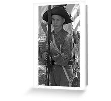 Ready to fight BW Greeting Card