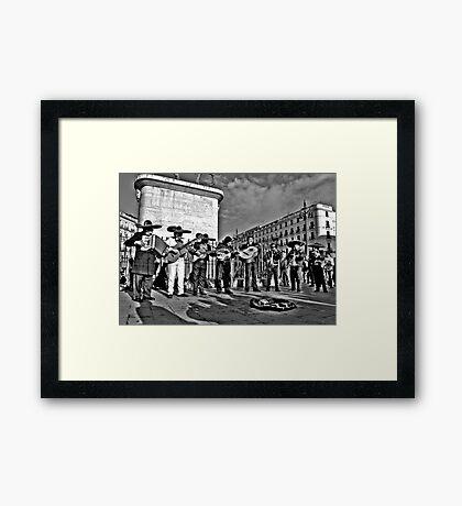 Plaza Musicians Framed Print
