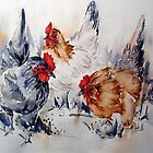 Wacky Chickens- by Bev  Wells