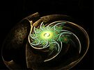 Green Spiral Galaxy  (UF0204) by barrowda