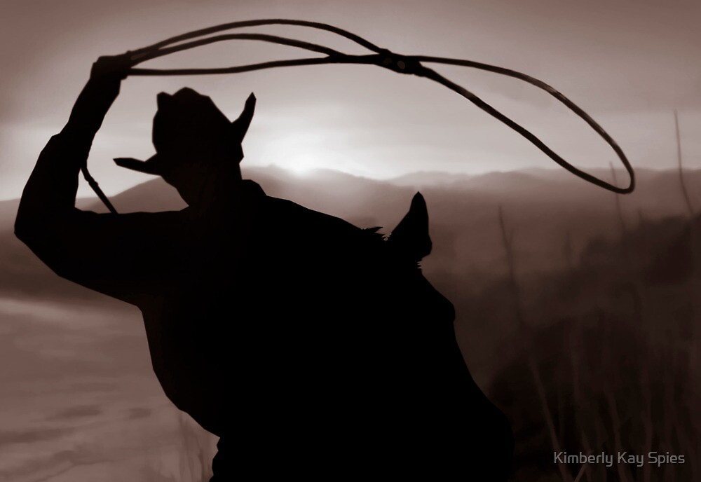 Cowboy silhouette by Kimberly Kay Spies