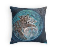 Bubblecats in Cyberspace Throw Pillow