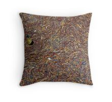 Trapped bottle Throw Pillow