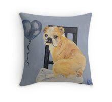 Bulldog Madeline Throw Pillow