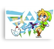 LOZ: Skyward Sword- Link vs Cucco Canvas Print