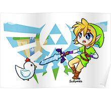 LOZ: Skyward Sword- Link vs Cucco Poster