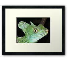 Green Basilisk Framed Print