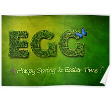 Egg Spring Easter Greetings Postcard and Wallpaper Poster