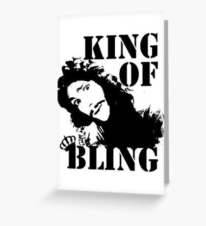 Charles II - King of Bling Greeting Card