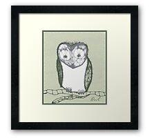 Scribbler-Owl Framed Print