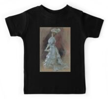 Jules Alexandre Grün An Elegant Lady with a Parasol Kids Tee