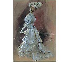 Jules Alexandre Grün An Elegant Lady with a Parasol Photographic Print