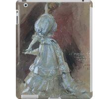 Jules Alexandre Grün An Elegant Lady with a Parasol iPad Case/Skin