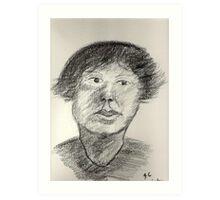 Portrait In Charcoal Art Print