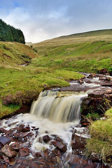 Brecon Beacons Waterfall, Wales by Giles Clare