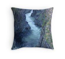 Sooke River Gorge (1) Throw Pillow