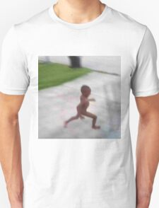 Naked african child running T-Shirt
