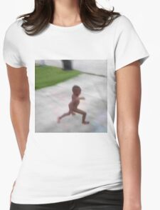 Naked african child running Womens Fitted T-Shirt