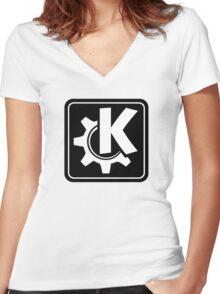 KoquerorBlackIcon Women's Fitted V-Neck T-Shirt
