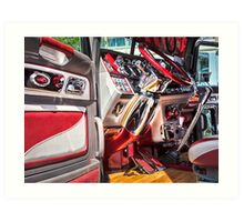 PETERBILT INTERIOR Art Print