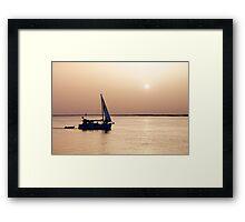 Return at sunset Framed Print