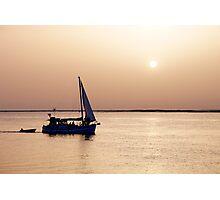Return at sunset Photographic Print
