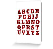 Letters with ladybird pattern. Greeting Card