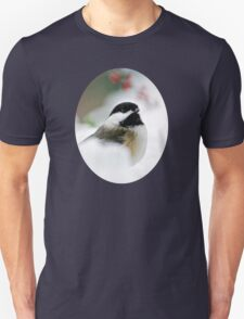 Winter Chickadee Unisex T-Shirt