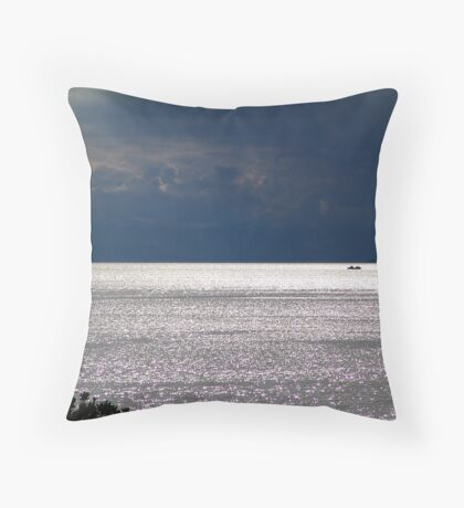 Storm and Glitter Throw Pillow