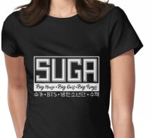 Suga - BTS Member Logo Series (White) Womens Fitted T-Shirt