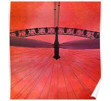 London (red) Eye, London, England. Poster
