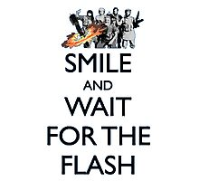 Smile and Wait for the Flash Photographic Print