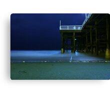 crystal beach pier,crystal beach, pier, Canvas Print